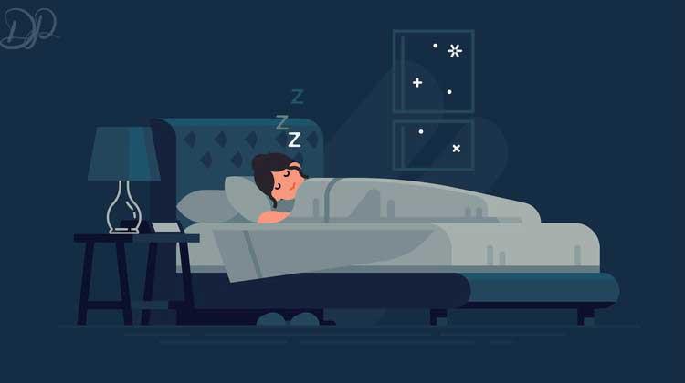 خانمی که بی خوابی خود را با قرص زولپیدم درما کرده و خوابیده است
