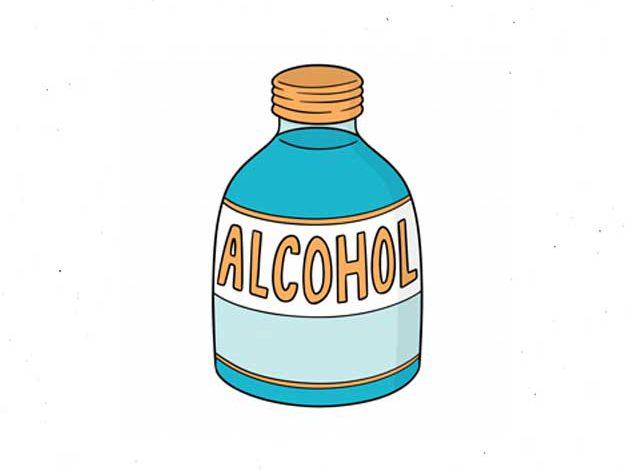 الکل صنعتی در شیشه نگهداری